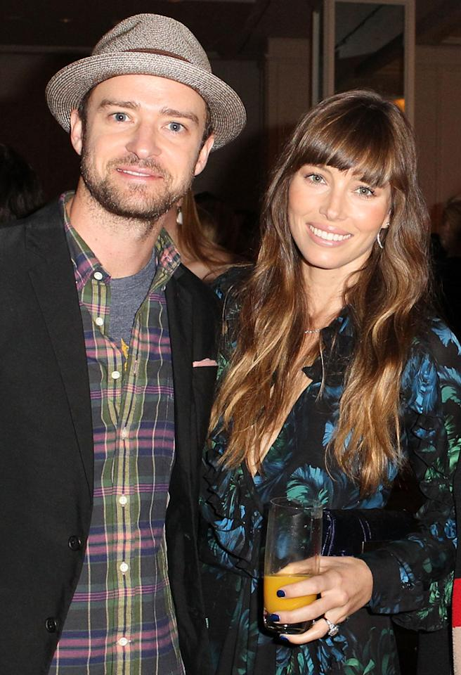 BEVERLY HILLS, CA - OCTOBER 05:  (L-R) Actors Justin Timberlake and Jessica Biel attend the Variety's 4th Annual Power Of Women Event Presented By Lifetime at the Beverly Wilshire Four Seasons Hotel on October 5, 2012 in Beverly Hills, California.  (Photo by Jonathan Leibson/WireImage)