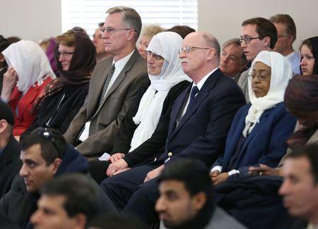 Paula and Ed Kassig attend a prayer service in memory of their son Abdul-Rahman Kassig, whose name was Peter before his conversion to Islam, in Fishers, Indiana, November 21, 2014. REUTERS/Chris Bergin