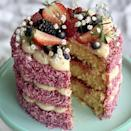 """<p>In need of a showstopping <a href=""""https://www.delish.com/uk/cooking/recipes/g31433515/best-cake-recipes/"""" rel=""""nofollow noopener"""" target=""""_blank"""" data-ylk=""""slk:cake"""" class=""""link rapid-noclick-resp"""">cake</a> idea, that's actually pretty easy to pull off? This coconut and raspberry cake is an absolute dream. <a href=""""https://www.delish.com/uk/cooking/recipes/g28934063/afternoon-tea-recipes/"""" rel=""""nofollow noopener"""" target=""""_blank"""" data-ylk=""""slk:Afternoon tea"""" class=""""link rapid-noclick-resp"""">Afternoon tea</a> never looked so good. </p><p>Get the <a href=""""https://www.delish.com/uk/cooking/recipes/a34120737/raspberry-and-coconut-cake/"""" rel=""""nofollow noopener"""" target=""""_blank"""" data-ylk=""""slk:Raspberry and Coconut Cake"""" class=""""link rapid-noclick-resp"""">Raspberry and Coconut Cake</a> recipe. </p>"""