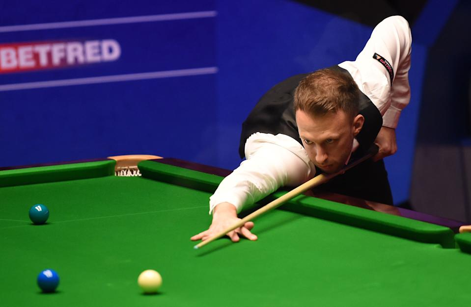 Judd Trump in action (Photo by Nathan Stirk/Getty Images)