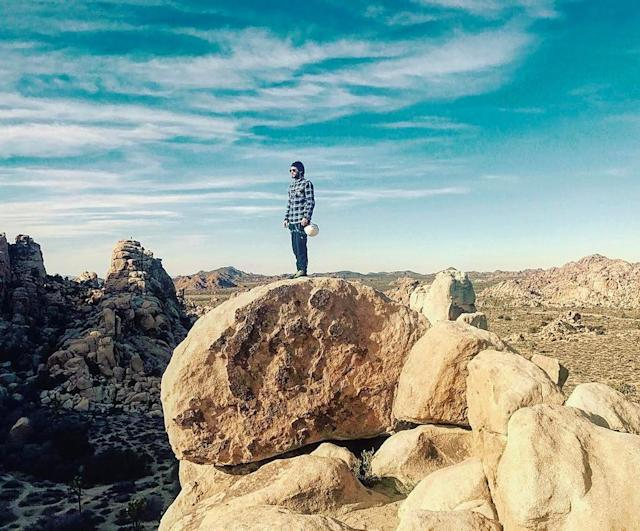 "<p>The 30 Seconds to Mars frontman looked like he was king of the world in Joshua Tree. Jared Leto soaked up the blue sky and the desert landscape on a picturesque day. (Photo: <a href=""https://www.instagram.com/p/BPWnk3nBWmO/?taken-by=jaredleto"" rel=""nofollow noopener"" target=""_blank"" data-ylk=""slk:Jared Leto via Instagram"" class=""link rapid-noclick-resp"">Jared Leto via Instagram</a>) </p>"