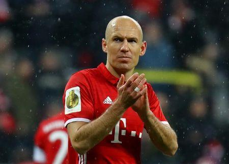 Bayern Munich's Arjen Robben looks dejected after the match