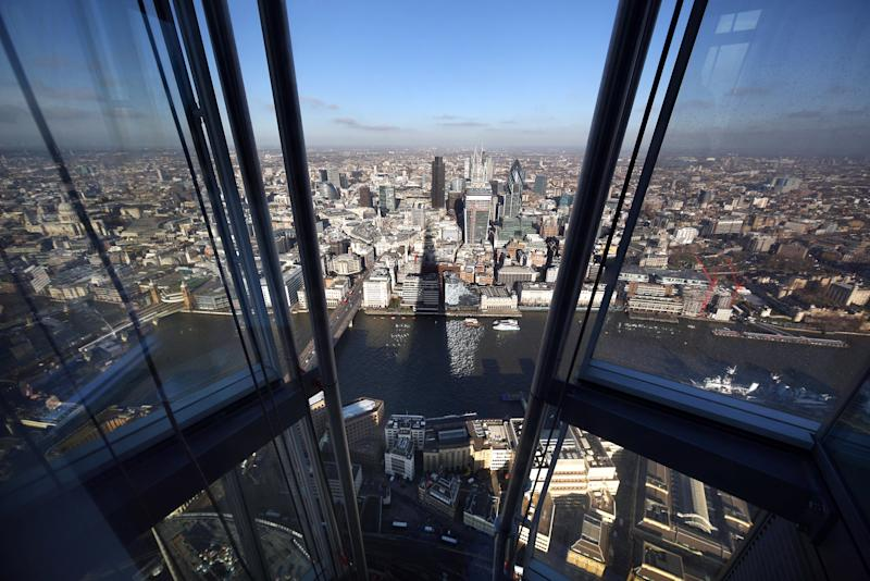 The panoramic views from the Shard. [Photo: Getty]