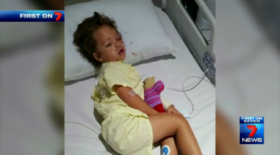 Syndal spent the night in hospital after swallowing huge amounts of water. Photo: 7 News