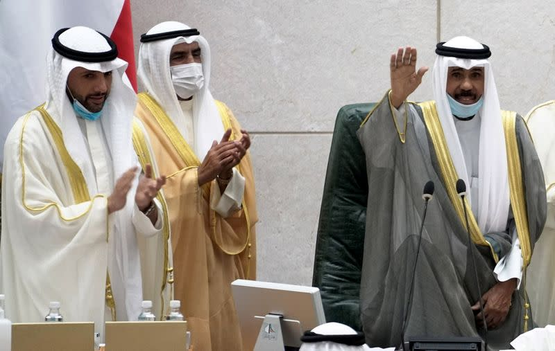 Kuwait's new Emir attends parliament session