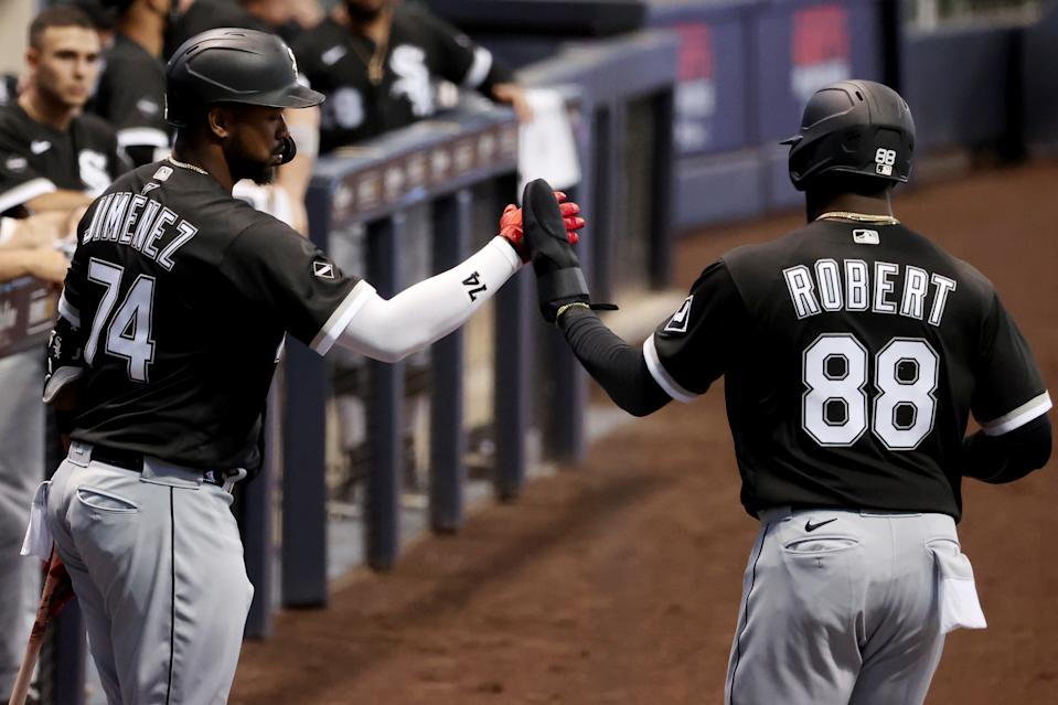 Rookie Luis Robert has made the White Sox a team to watch. (Photo by Dylan Buell/Getty Images)