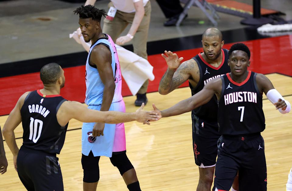 Rockets lose Victor Oladipo, PJ Tucker to leg injuries vs. Heat