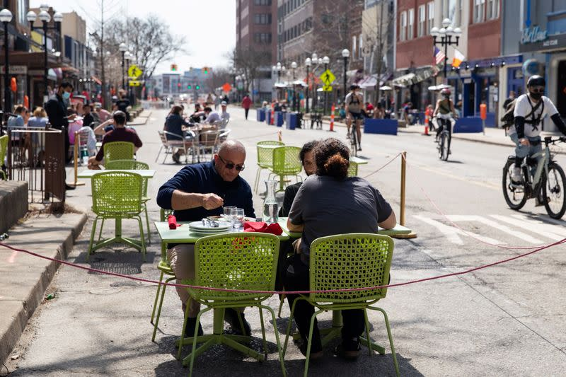FILE PHOTO: Restaurants amid COVID-19 restrictions easing, in Ann Arbor