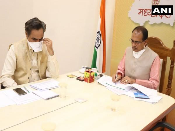 Madhya Pradesh Chief Minister Shivraj Singh Chouhan during the first meeting of 'Cow Cabinet' in Bhopal on Sunday.