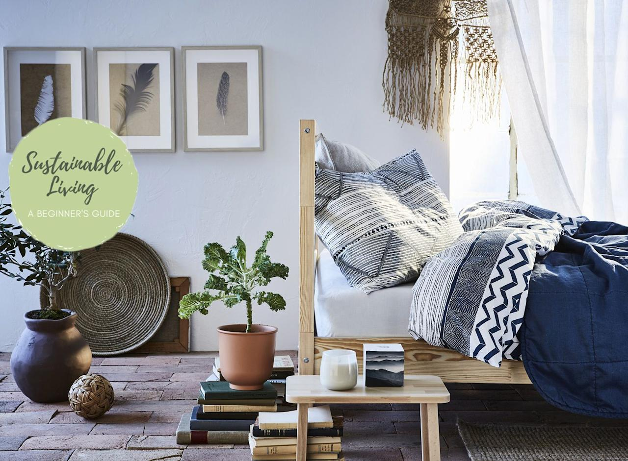 "<p><strong>Swedish phrase 'Lagom är bäst', meaning 'the right amount is best', is what Ikea believe is the key to sustainable living. </strong></p><p>The home furnishings retail giant currently sell an extensive range of sustainably sourced, renewable products to help customers lead a more sustainable lifestyle.</p><p>'<a href=""https://www.housebeautiful.com/uk/lifestyle/shopping/a26252376/ikea-greenwich/"">Sustainability</a> is at the heart of everything we do at Ikea and our ambition is to inspire and enable more people to live a better everyday life within the limits of the planet,' says Hege Sæbjørnsen, Ikea UK & Ireland's Country Sustainability Manager. 'A few simple tweaks and changes is all it takes to create an inviting, renewable, eco-friendly living space.</p><p>'Limiting food waste, going <a href=""https://www.housebeautiful.com/uk/lifestyle/a20415268/kirstie-allsopp-litter-plastic-campaign/"">plastic free</a> and growing your own plants are just a few ways to make your lifestyle more sustainable.'</p><p>We already know that the smallest change can have the biggest impact, but where to start? Ikea has highlighted nine products, to be used around the home, that will help you on your sustainability journey.</p>"