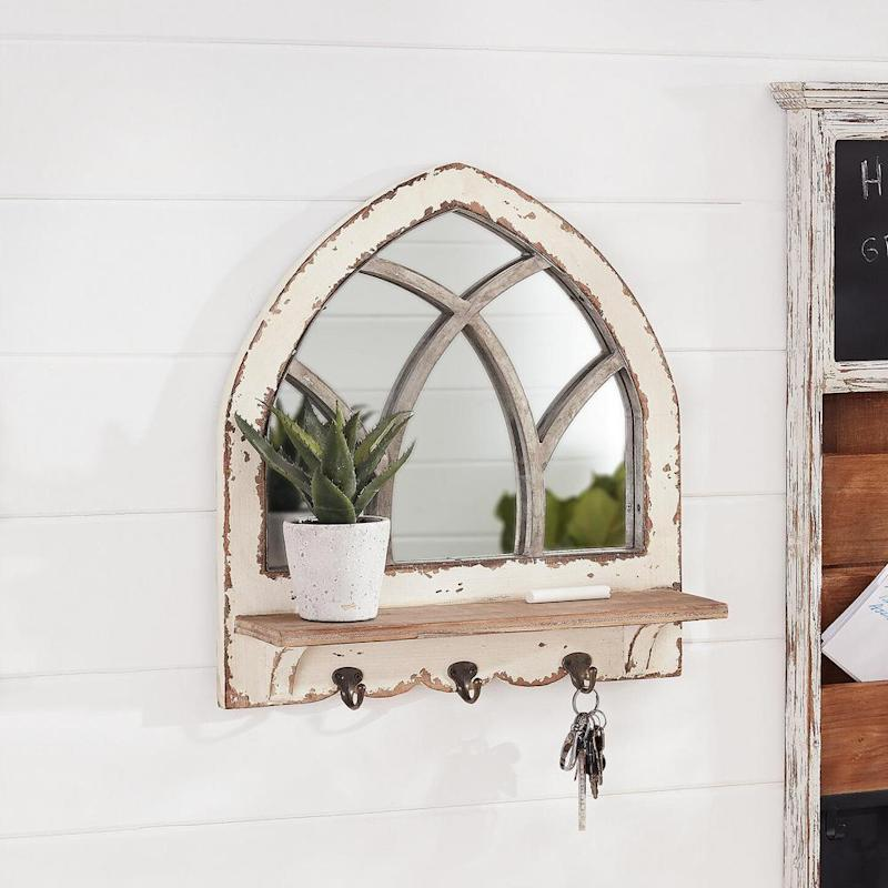 How chic is this farmhouse-inspired mirror? (Photo: Home Depot)
