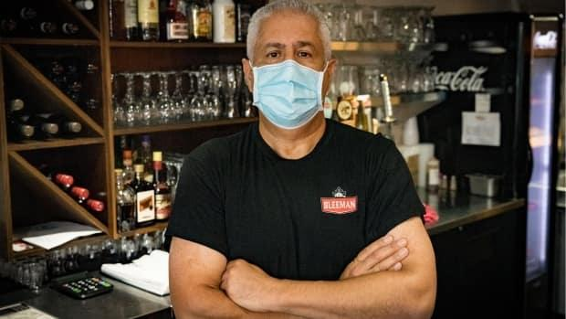 Bill Mahfouz, owner of Benny's All Day restaurant, says a customer who couldn't provide proof of vaccination cursed at staff and threatened to damage the property. (Brian Morris/CBC - image credit)