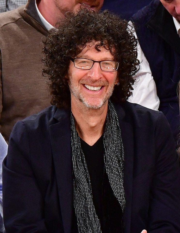 Howard Stern attends Cleveland Cavaliers vs New York Knicks game at Madison Square Garden