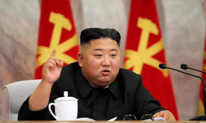 Image: North Korean leader Kim Jong Un speaks during the conference of the Central Military Committee of the Workers' Party of Korea (KCNA / Reuters file)