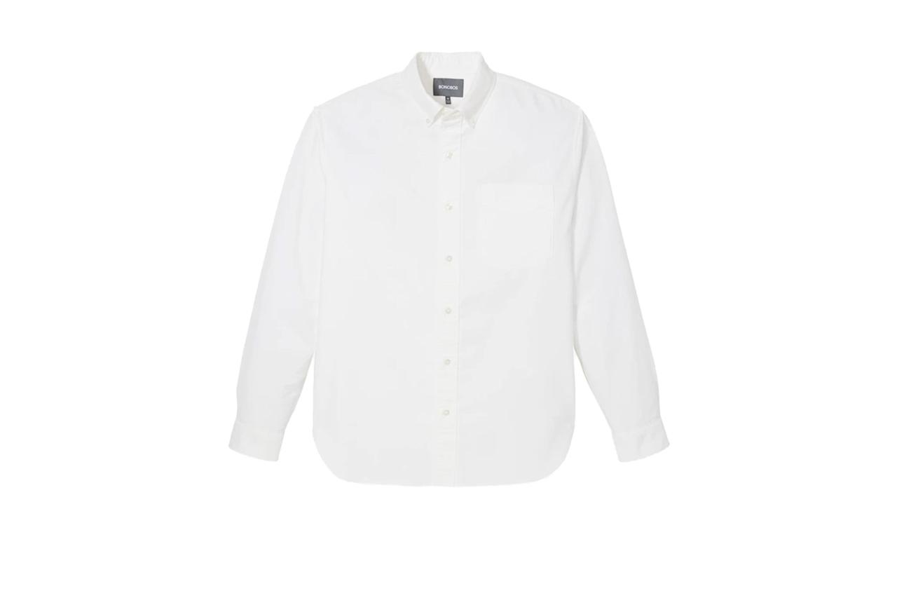"$88, Bonobos. <a rel=""nofollow"" href=""https://bonobos.com/products/the-big-oxford-shirt?color=white"">Get it now!</a>"