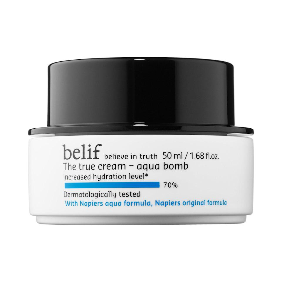 """<p>This ideal summer moisturizer is gel-based for lightweight, oil-free hydration. Aqua Bomb, as its name would suggest, is a burst of cooling, refreshing moisture that also protects skin and keeps it feeling bouncy and elastic.</p> <p><strong>$38</strong> (<a href=""""http://www.sephora.com/the-true-cream-aqua-bomb-P394639?skuId=1686427&icid2=products%20grid:p394639"""" rel=""""nofollow noopener"""" target=""""_blank"""" data-ylk=""""slk:Shop Now"""" class=""""link rapid-noclick-resp"""">Shop Now</a>)</p>"""