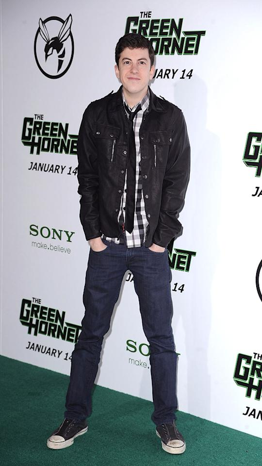 """<a href=""""http://movies.yahoo.com/movie/contributor/1809856246"""">Christopher Mintz-Plasse</a> attends the Los Angeles premiere of <a href=""""http://movies.yahoo.com/movie/1808411967/info"""">The Green Hornet</a> on January 10, 2011."""