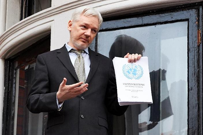 WikiLeaks founder Julian Assange walked into the Ecuadorian embassy in London in 2012 to avoid extradition to Sweden over a 2010 rape allegation which he denies (AFP Photo/Niklas Halle'n)