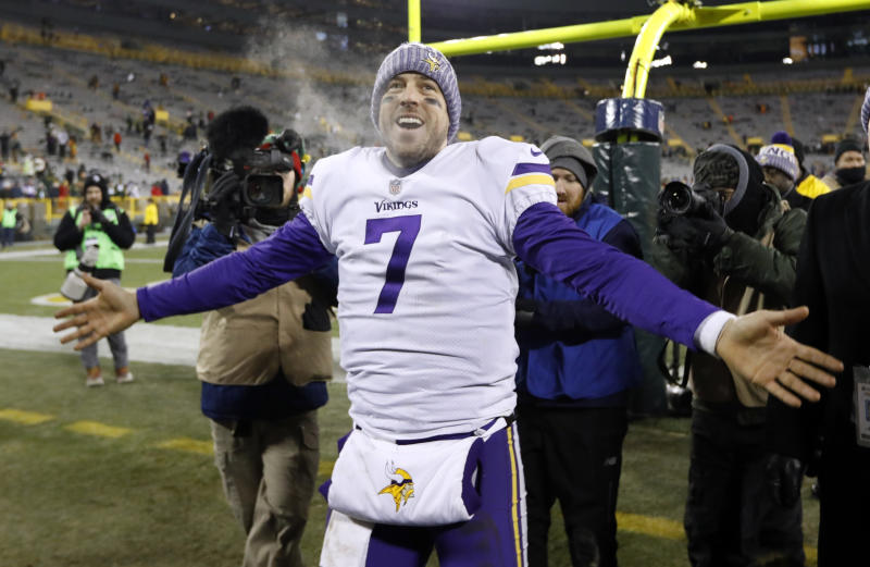 Minnesota Vikings' Case Keenum will try to get his team to the Super Bowl, which will be played in Minneapolis. (AP)