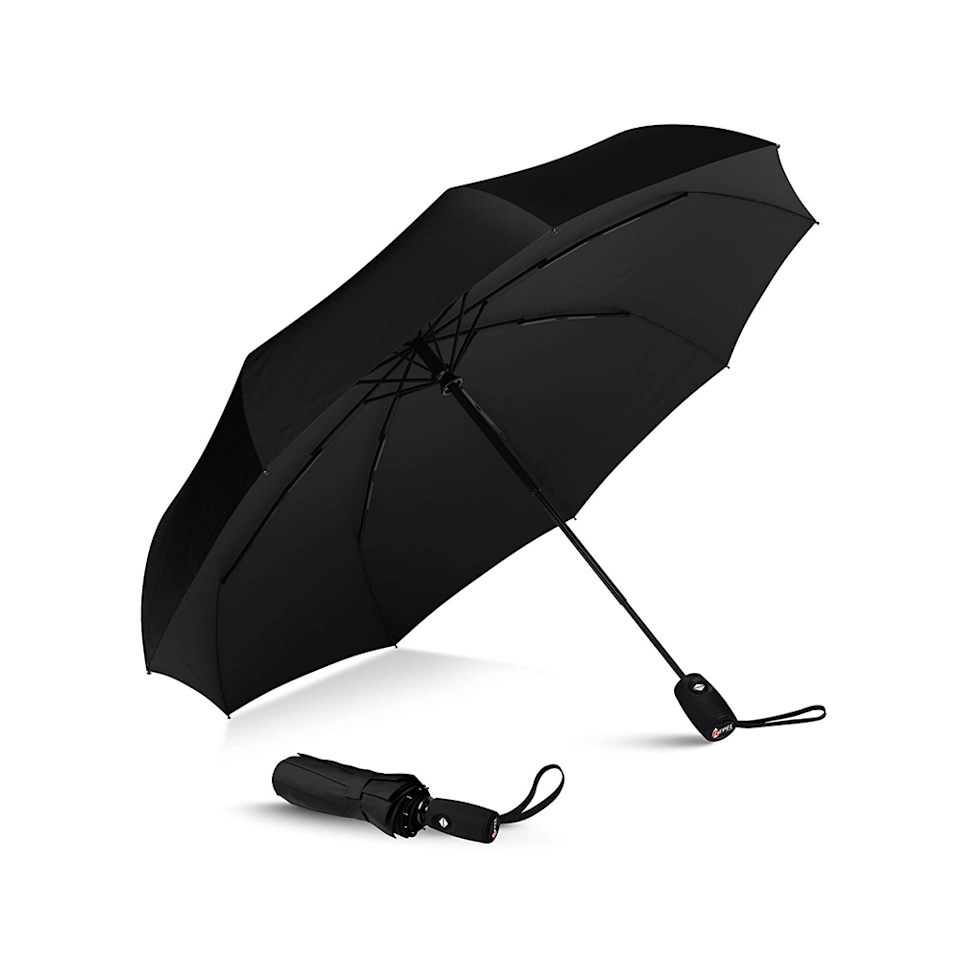The Repel Umbrella is a best-seller on Amazon with over 6,000 near-perfect reviews. It is coated with teflon to repel water and made of a stronger, sturdier construction than most to resist wind. (Photo: Amazon)