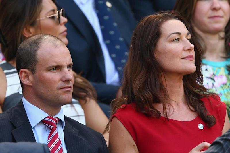 Andrew Strauss and wife Ruth McDonald attending Wimbledon in 2015. (Getty Images)