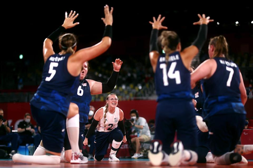 USA paralympic volleyball.