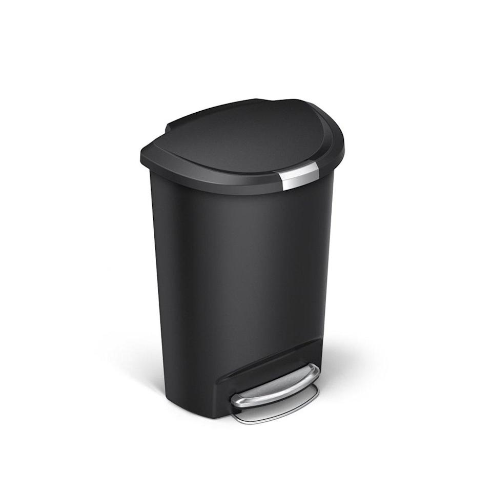 dog proof trash cans semi round step can