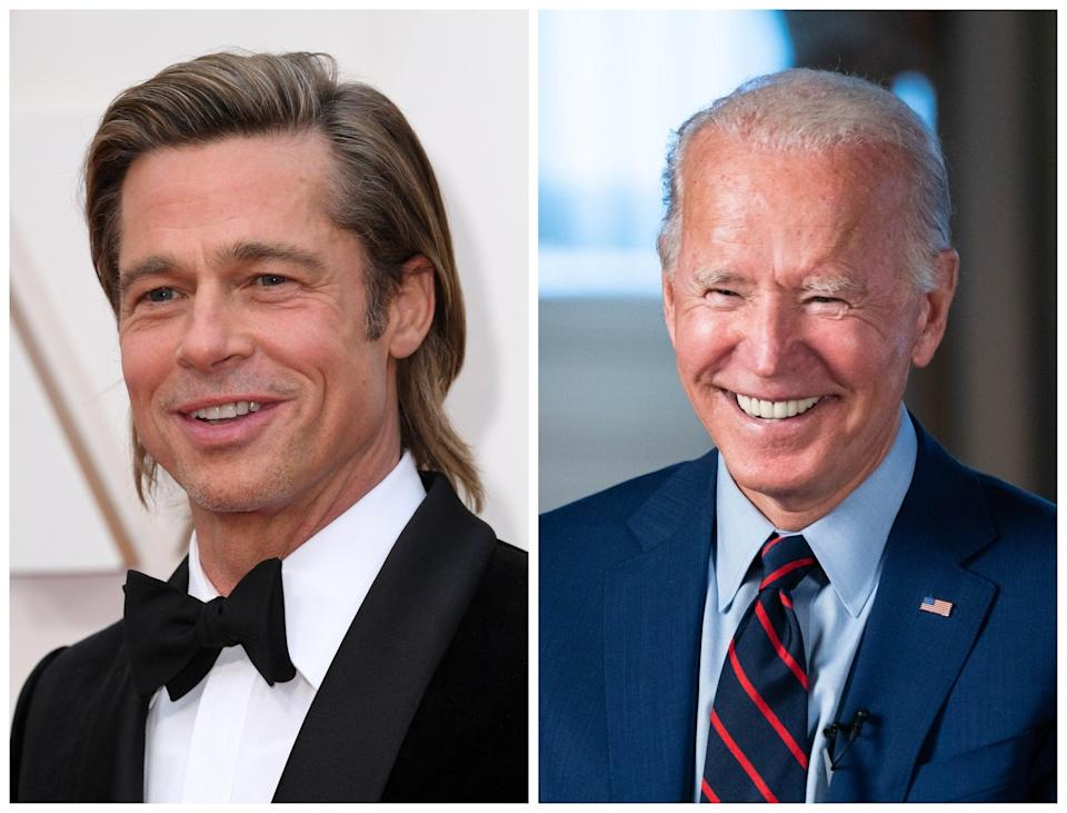 Brad Pitt has endorsed Joe Biden for the US presidency (Rex)