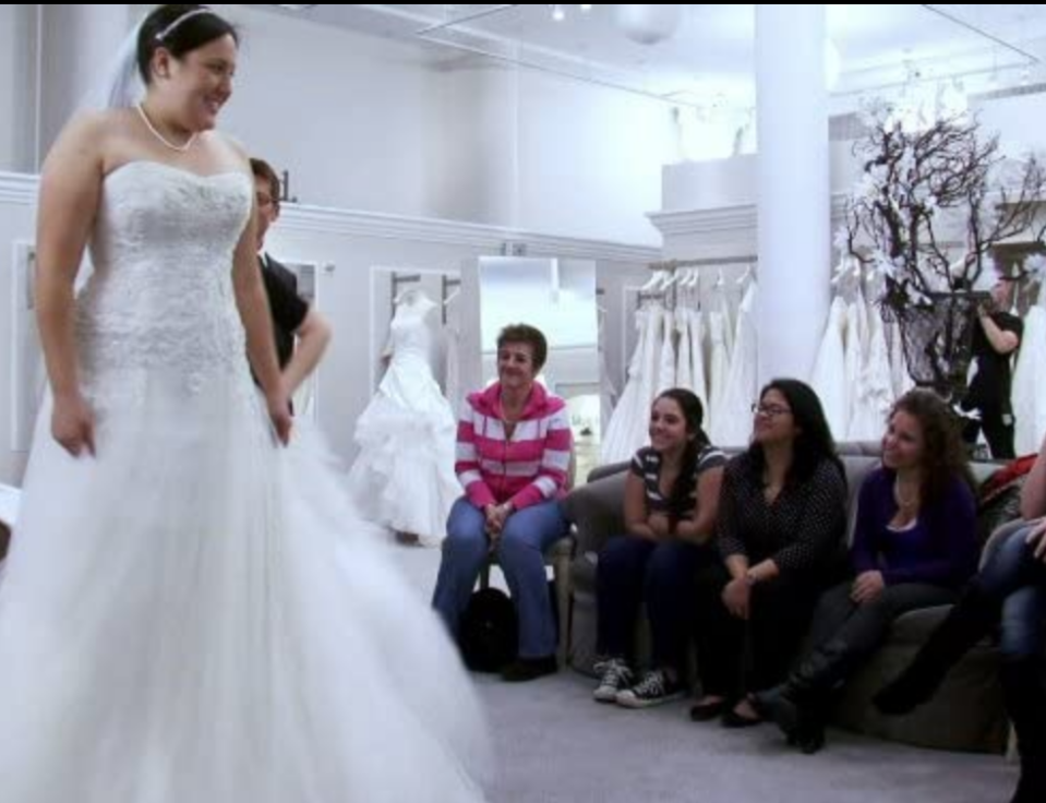 """<p>The show is only interested in brides who <em>truly </em>intend to get married — they don't want people just seeking their 15 minutes of fame on a reality show. That's why <a href=""""https://www.goodhousekeeping.com/life/entertainment/a30457738/say-yes-to-the-dress-tlc-behind-the-scenes-secrets/"""" rel=""""nofollow noopener"""" target=""""_blank"""" data-ylk=""""slk:producers heavily vet each potential applicant"""" class=""""link rapid-noclick-resp"""">producers heavily vet each potential applicant</a>. </p>"""
