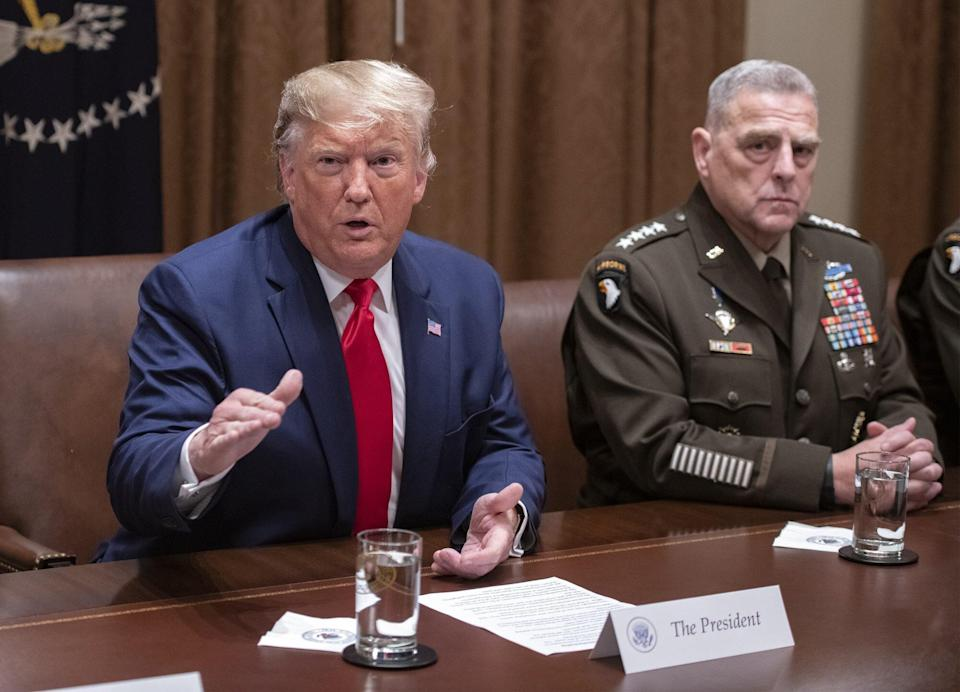Donald Trump and Mark Milley