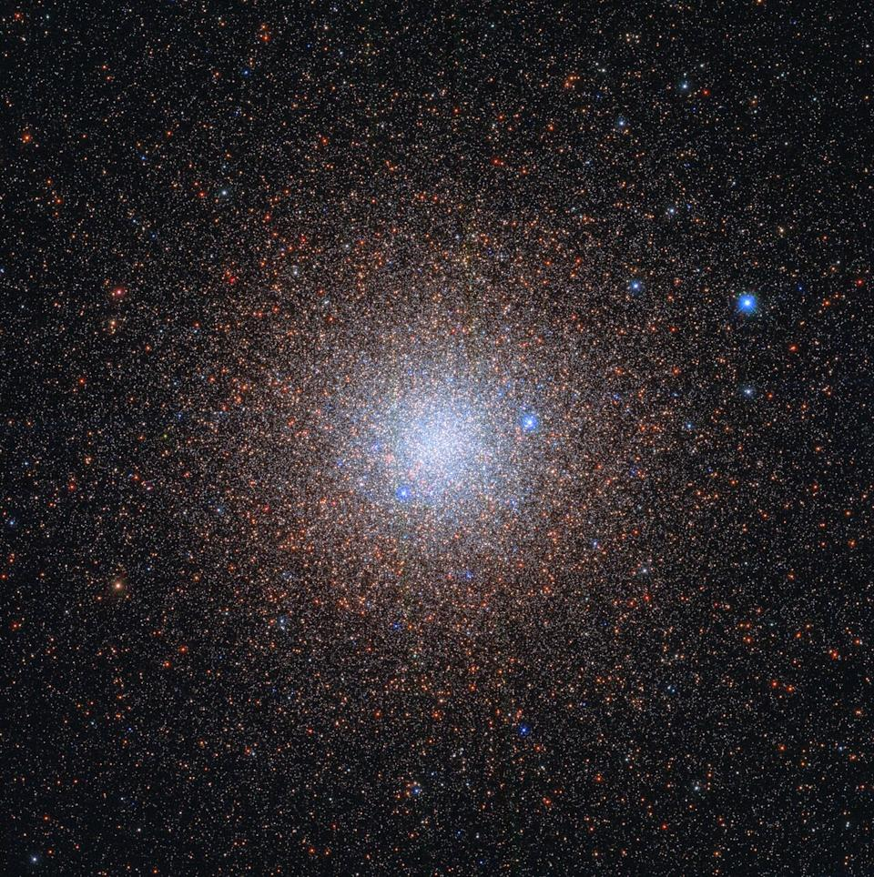 Almost like snowflakes, the stars of the globular cluster NGC 6441 sparkle peacefully in the night sky, about 13 000 light-years from the Milky Way's galactic center in this image released June 1, 2020 from the Hubble Space Telescope team.