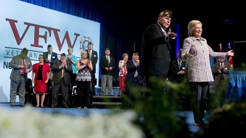 Clinton to Veterans: 'It Takes a Little Getting Used to' That I'm a Woman