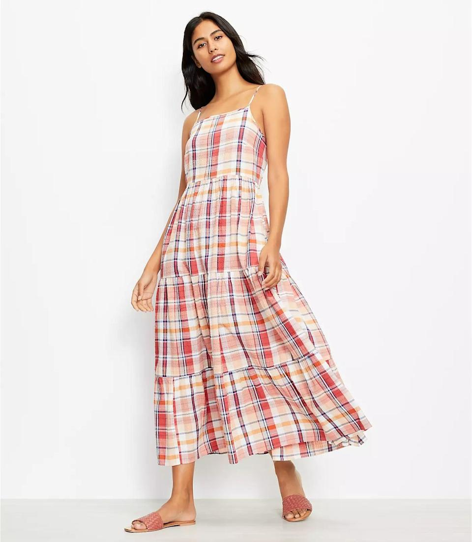 <p>This <span>Lou &amp; Grey Plaid Pocket Maxi Dress</span> ($90, plus 40 percent off with code NEED) features side pockets that will come in handy for those long days out and about. From the square neck to the plaid style, everything about it feels feminine and fun.</p>