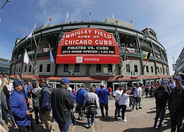 "The <a class=""link rapid-noclick-resp"" href=""/mlb/teams/chi-cubs/"" data-ylk=""slk:Chicago Cubs"">Chicago Cubs</a> announced season ticket prices will be down an average of 2.5 percent in 2020. (Jonathan Daniel/Getty Images)"