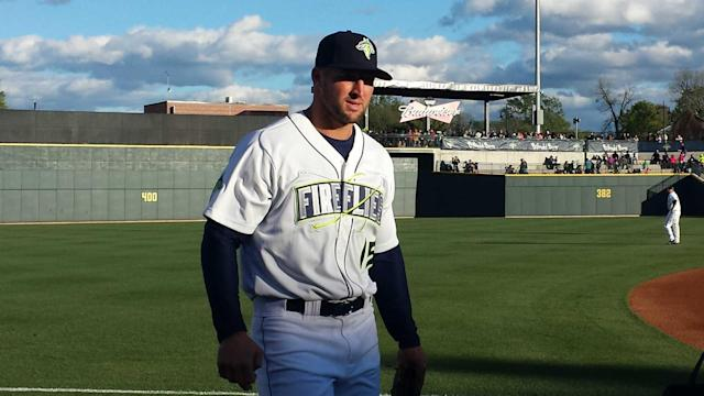 Tim Tebow trots around the bases once again.