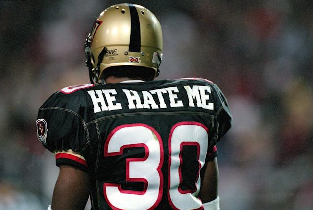 "Rod ""He Hate Me"" Smart of the XFL. (Getty)"