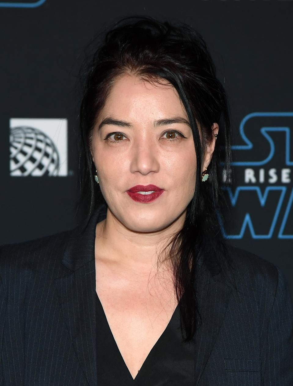 """HOLLYWOOD, CALIFORNIA - DECEMBER 16:  Director Deborah Chow attends the premiere of Disney's """"Star Wars: The Rise of Skywalker"""" on December 16, 2019 in Hollywood, California.  (Photo by Ethan Miller/FilmMagic)"""