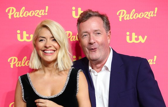 Holly Willoughby and Piers Morgan attend the ITV Palooza 2019 at the Royal Festival Hall in London, England. (Lia Toby/Getty Images)