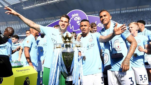 ​Manchester City stopper Ederson has signed a new seven year deal with the Premier League champions, tying him to the Etihad until the summer of 2025. The Brazil international joined the club from Benfica last summer in a €40m move, and has been at the heart of the club's blitz of English football this season with his impressive range of passing and assuredness under pressure. Amazing news!@edersonmoraes93 has signed a new deal and committed himself to the Club until 2025!  #mancity...