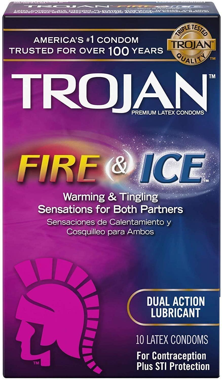 TROJAN Pleasures Fire and Ice Double Action Lubricated Condoms