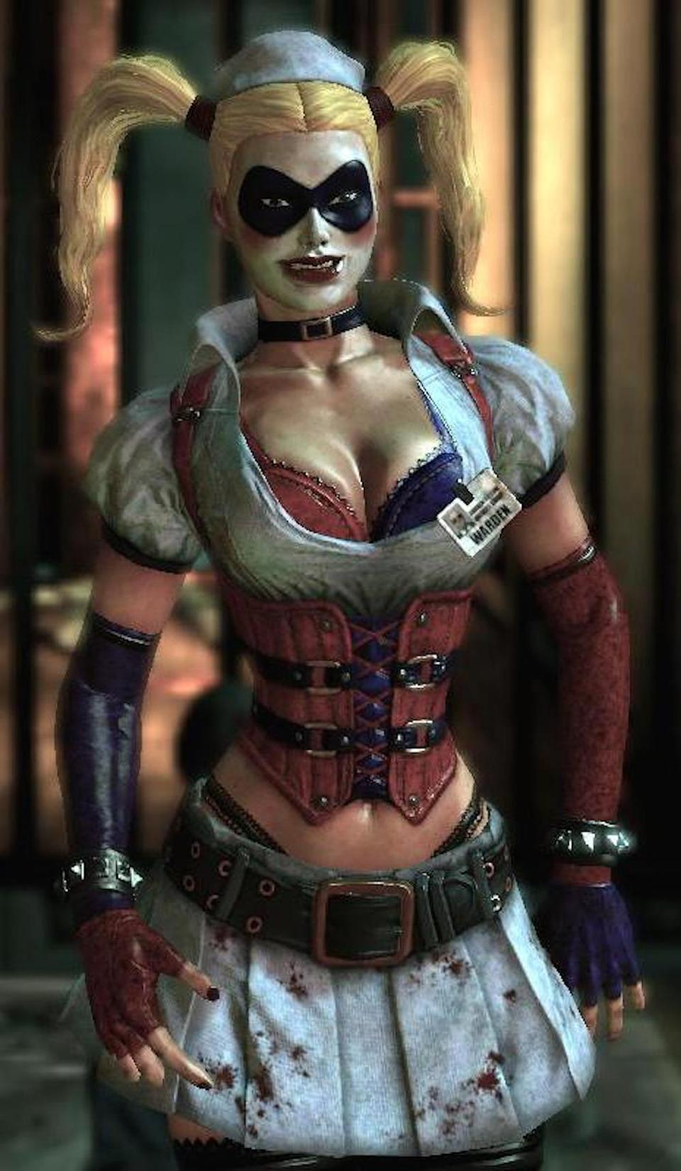 "<p>Rocksteady's seminal <i>Batman: Arkham</i> video-game series <a href=""https://www.yahoo.com/movies/the-stunning-influential-art-of-c1440170871217.html"" data-ylk=""slk:helped establish the visual palette for DC's cinematic universe;outcm:mb_qualified_link;_E:mb_qualified_link;ct:story;"" class=""link rapid-noclick-resp yahoo-link"">helped establish the visual palette for DC's cinematic universe</a>. The ponytailed, nightmarish ""Nurse Harley"" obviously influenced the look of future incarnations, including Robbie's character. <i>(Image: Rocksteady/Warner Bros. Interactive)</i></p>"