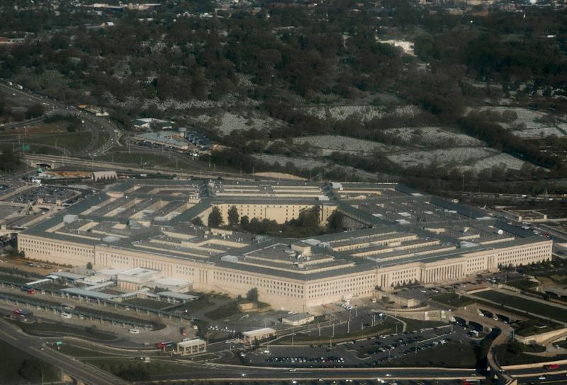 Aerial view of the Pentagon in Arlington, Virginia outside Washington, DC (AFP Photo/SAUL LOEB)
