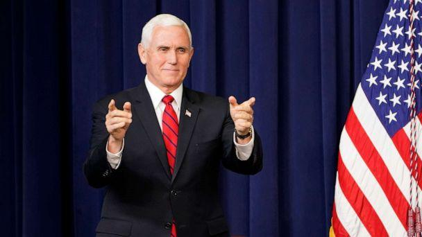 PHOTO: Vice President Mike Pence arrives to speak at a Life Is Winning event in the South Court Auditorium on the White House complex in Washington, Dec. 16, 2020. (Susan Walsh/AP)