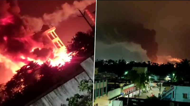 Visakhapatnam: Massive Fire breaks Out at Pharma Company, Fire Tenders Rushed to Spot