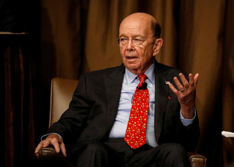 Commerce Secretary Wilbur Ross speaks to the Economic Club of New York in New York City on Oct. 25, 2017. (Brendan McDermid / Reuters)