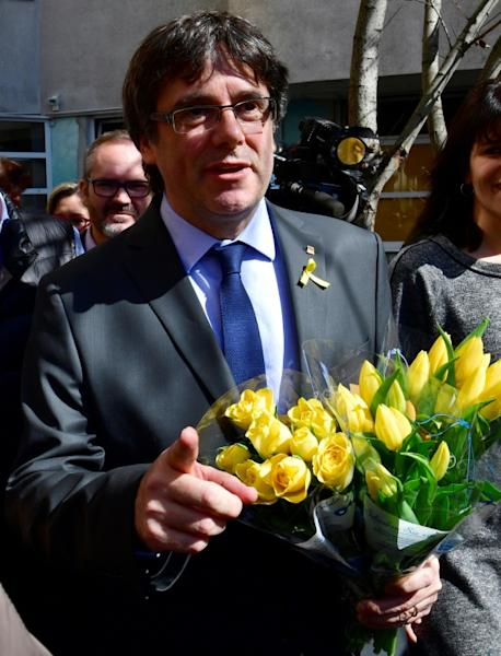 The march comes 10 days after a German court dismissed an extradition request for Puigdemont on grounds of rebellion