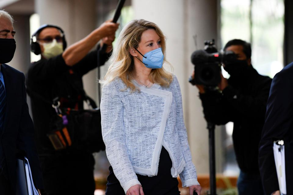 Theranos founder Elizabeth Holmes arrives at the Robert F. Peckham Federal Building to attend a federal court hearing in San Jose, California (REUTERS)