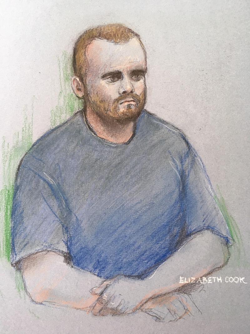 Bravery, pictured in a court sketch from a previous hearing last year. (PA)