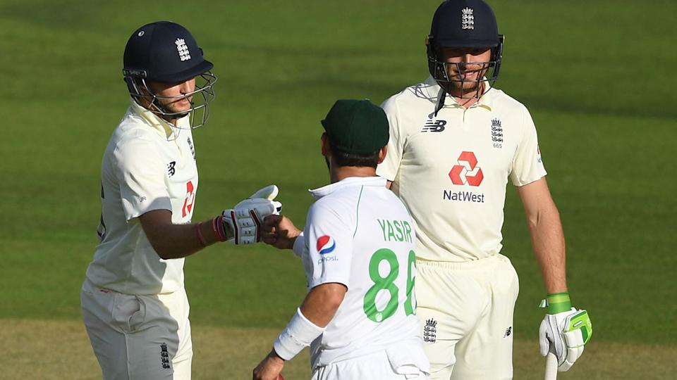 Joe Root and Yasir Shah, pictured here embracing at the end of the second Test.