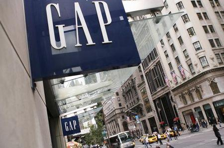 The Gap store is pictured on Fifth Avenue in New York